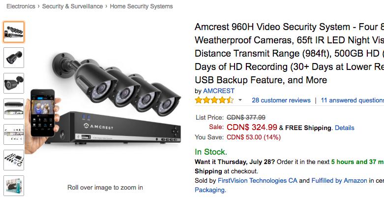 Armcrest security camera